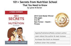 Lynne Dorner | Award Winning Author 2015 Health  and Fitness